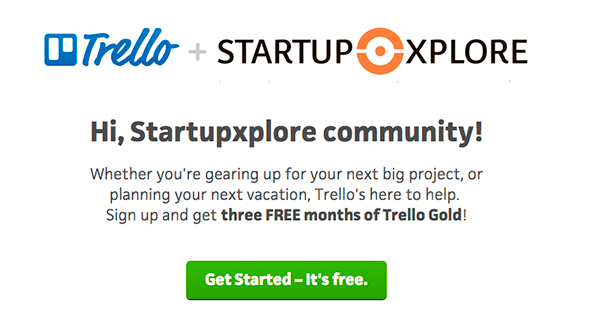 trello-deal-startupxplore-gold-3-months-free
