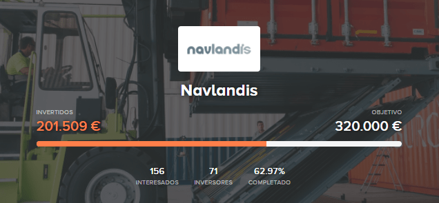 Ronda de financiación disponible en Navlandis
