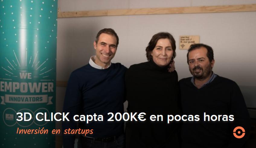 3D CLICK capta 200K€ en pocas horas