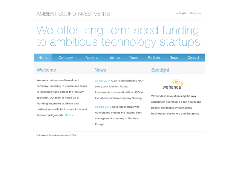 Images from Ambient Sound Investments