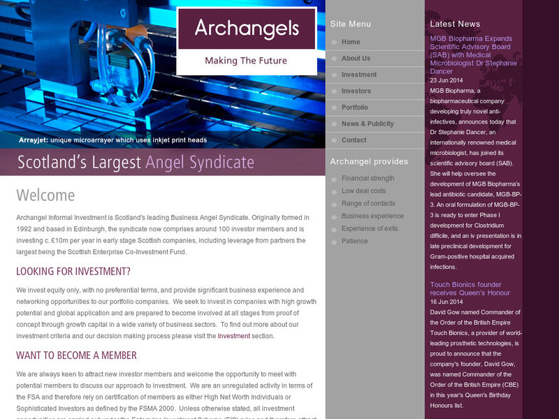 Images from Archangels Informal Investment
