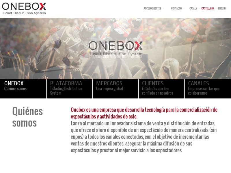 Images from Onebox Ticket Distribution System