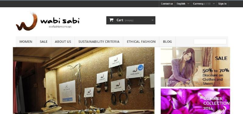 Images from Wabi Sabi Eco Fashion Concept