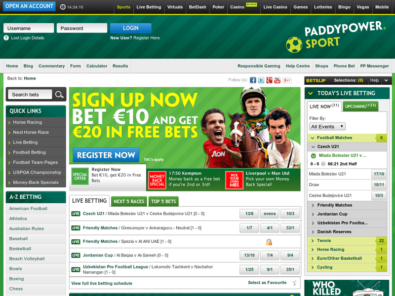 Images from paddypower