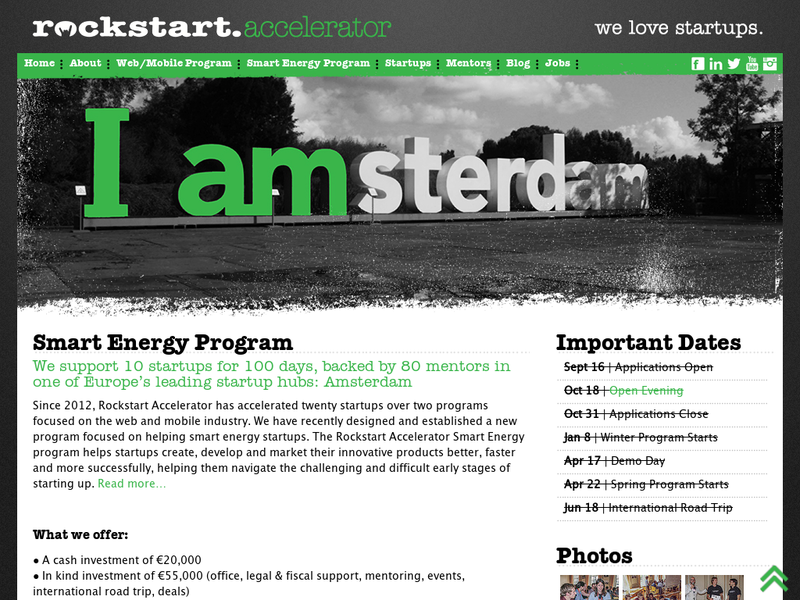 Images from Rockstart Accelerator (Smart Energy)