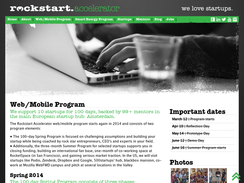Images from Rockstart Accelerator (Web/Mobile Program)