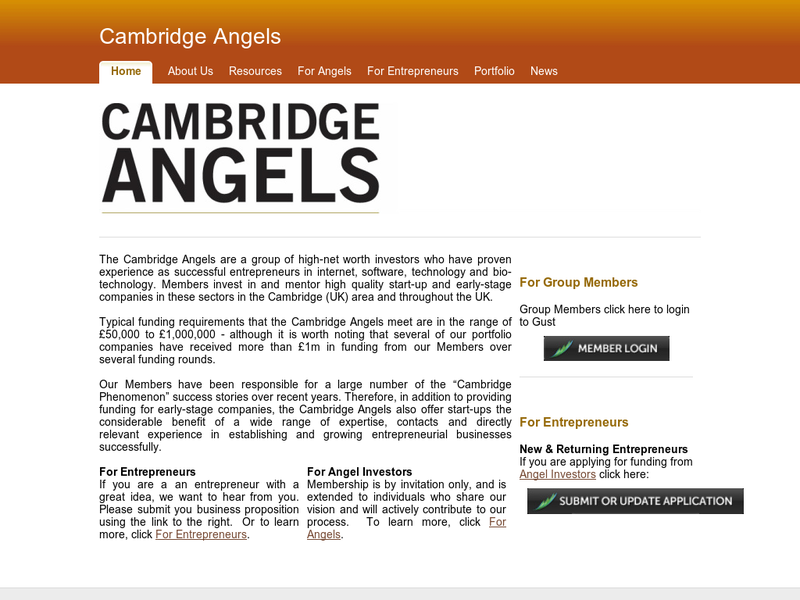 Images from Cambridge Angels