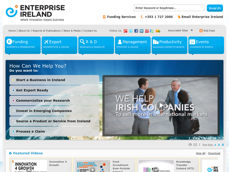 Images from Enterprise Ireland