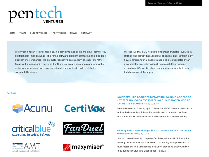 Images from Pentech Ventures