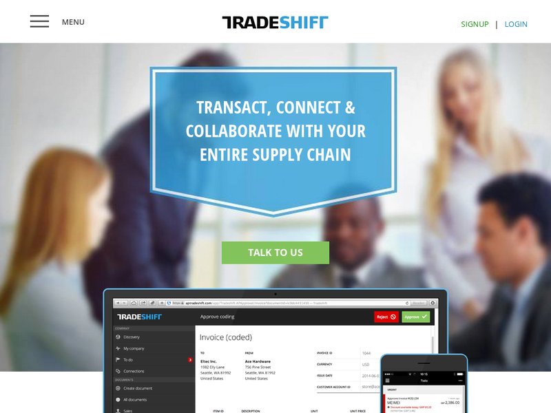 Images from Tradeshift