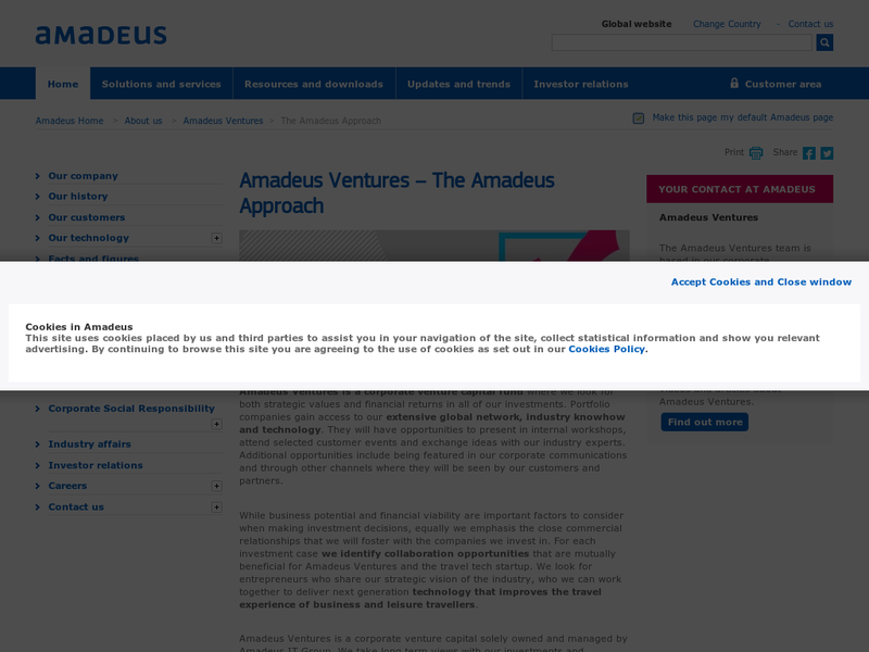 Images from Amadeus Ventures