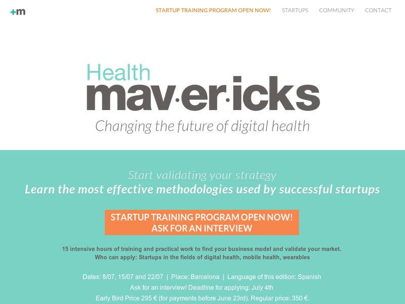 Images from Health Mavericks Accelerator