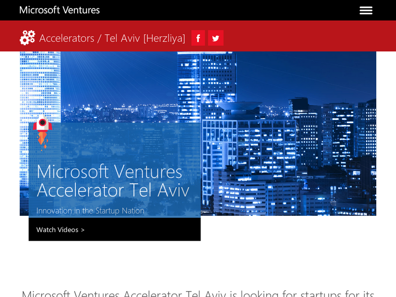 Images from Microsoft Ventures Tel Aviv