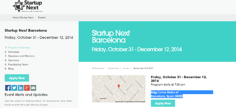 Images from Startup Next Barcelona