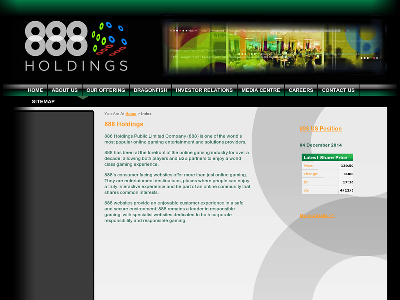 Images from 888 Holdings
