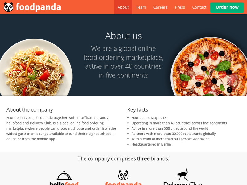 Images from Foodpanda
