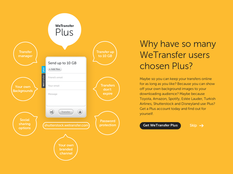 Images from WeTransfer