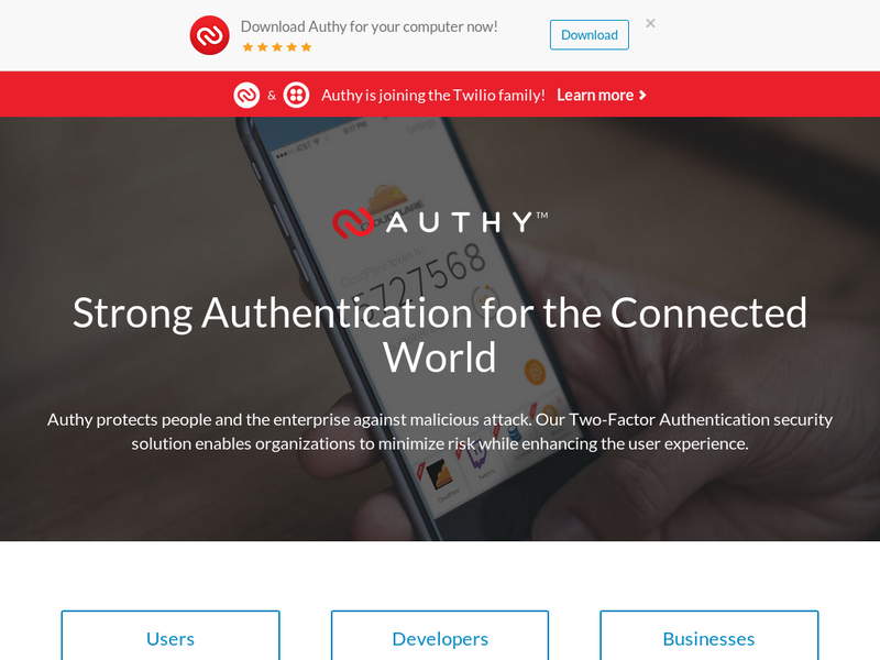 Images from Authy