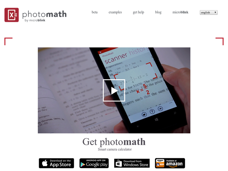 Images from PhotoMath