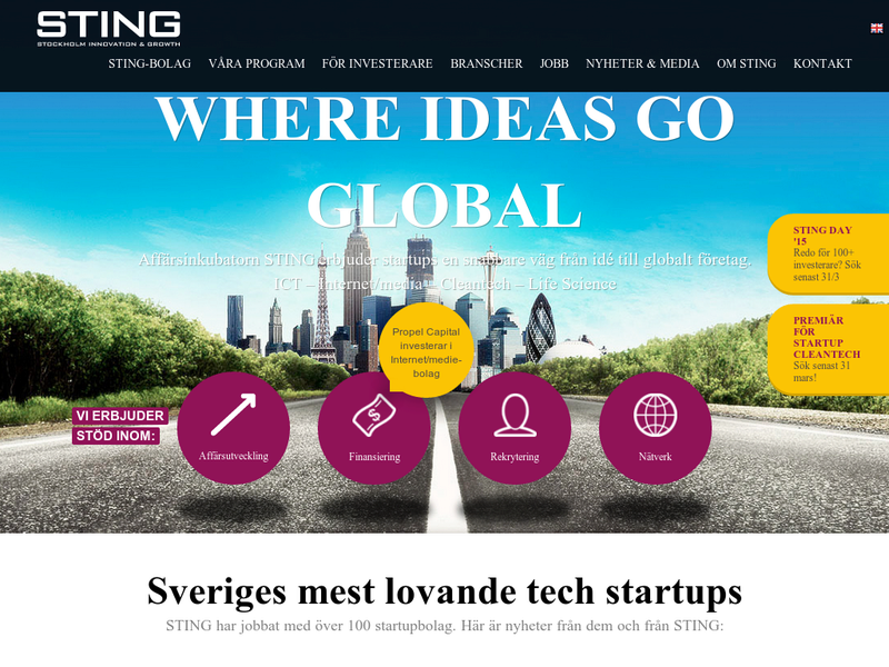 Images from STING - Stockholm Innovation & Growth