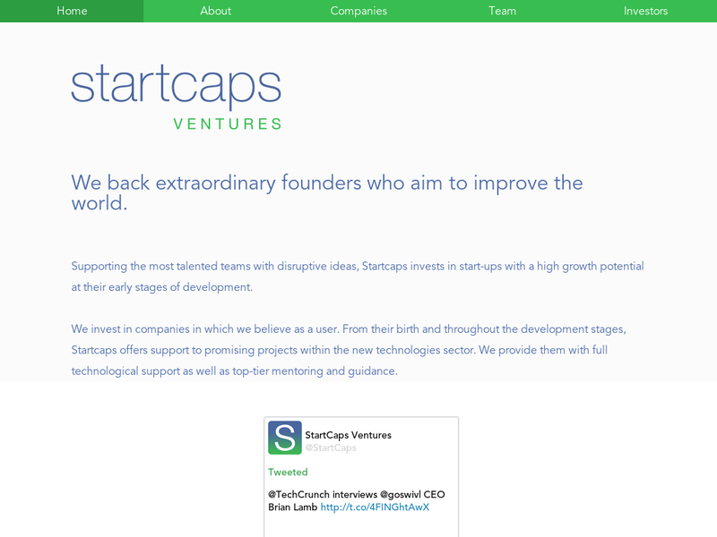 Images from Startcaps Ventures