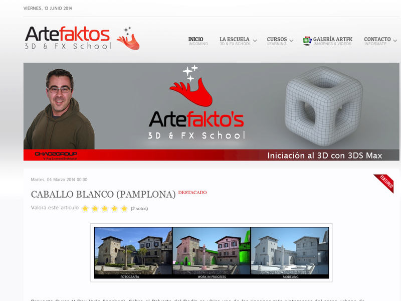Images from Artefaktos 3D&FX School