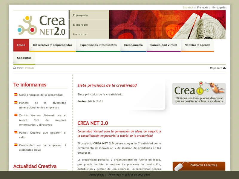Images from Crea Net 2.0