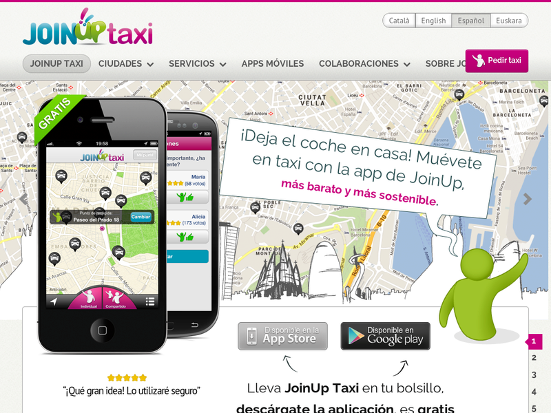 Images from JoinUp Taxi