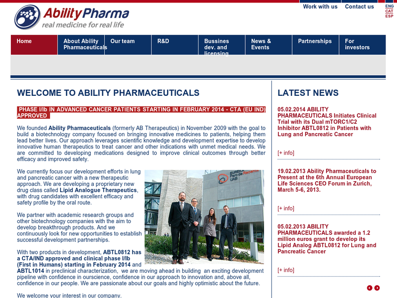 Images from Ability Pharmaceuticals