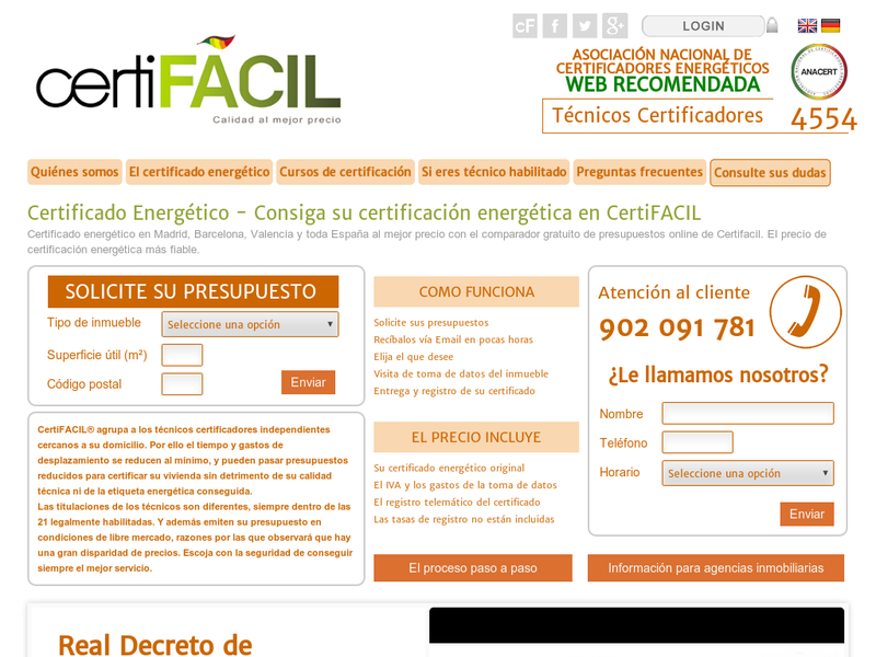 Images from certifacil.es