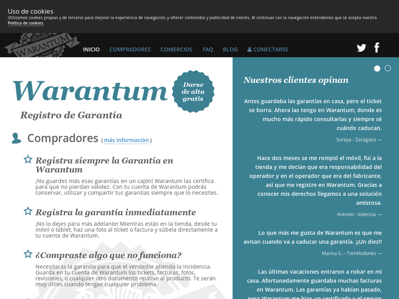 Images from Warantum - Registro de Garantia