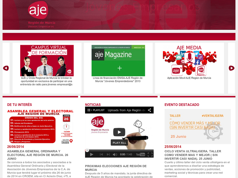 Images from AJE Region de Murcia