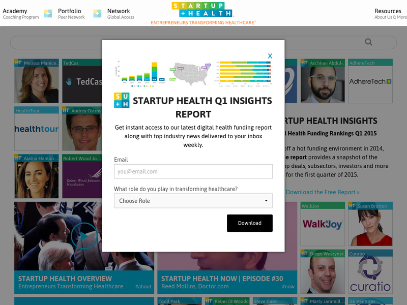 Images from StartUp Health