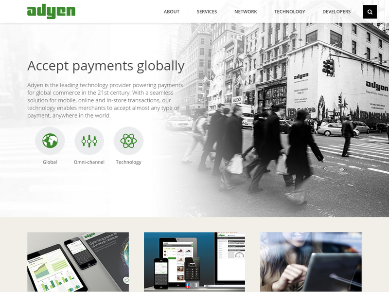 Images from Adyen