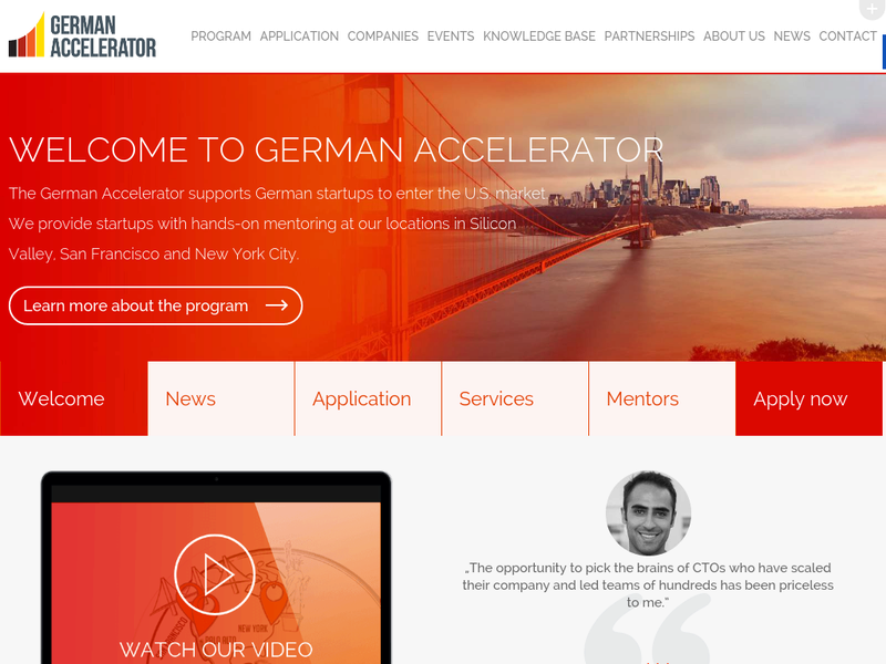 Images from German Silicon Valley Accelerator