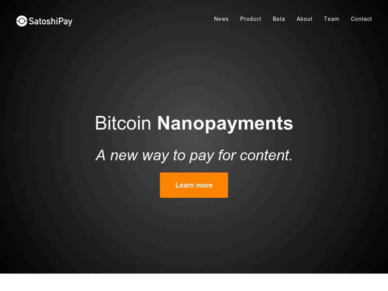 Images from SatoshiPay