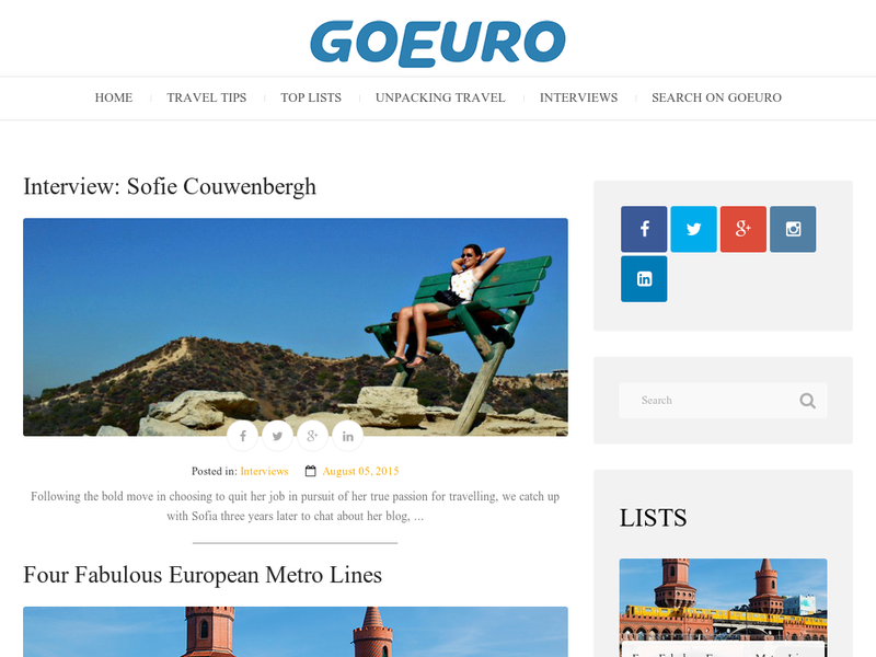 Images from GoEuro