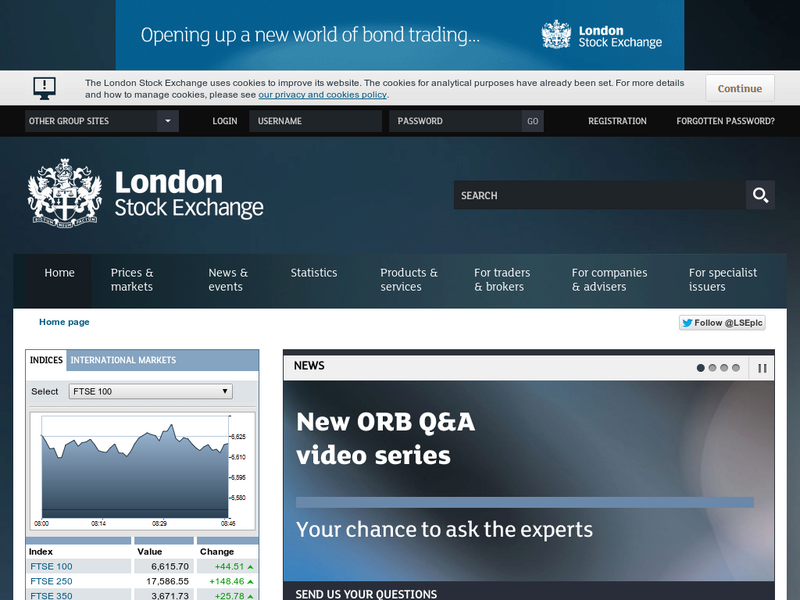 Images from London Stock Exchange