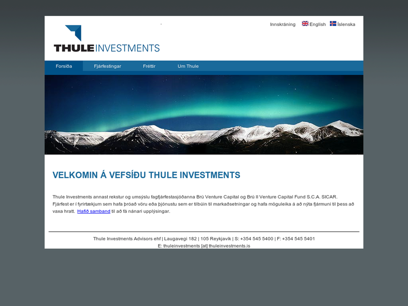 Images from Thule Investments