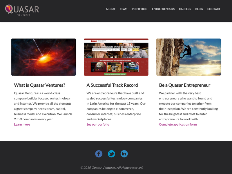Images from Quasar Ventures