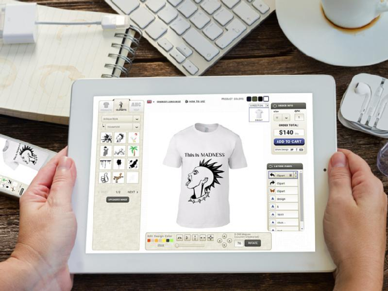 Images from inkyROBO:  Online T-Shirt Design Software Provider