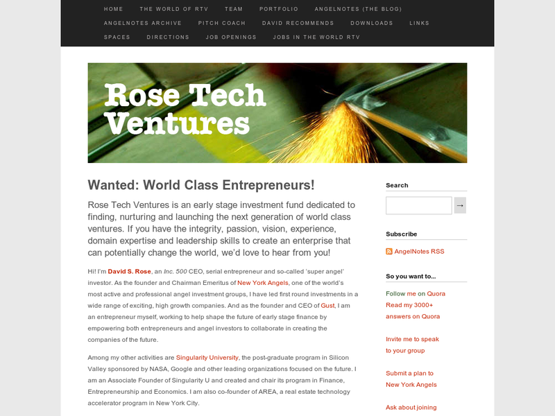 Images from Rose Tech Ventures