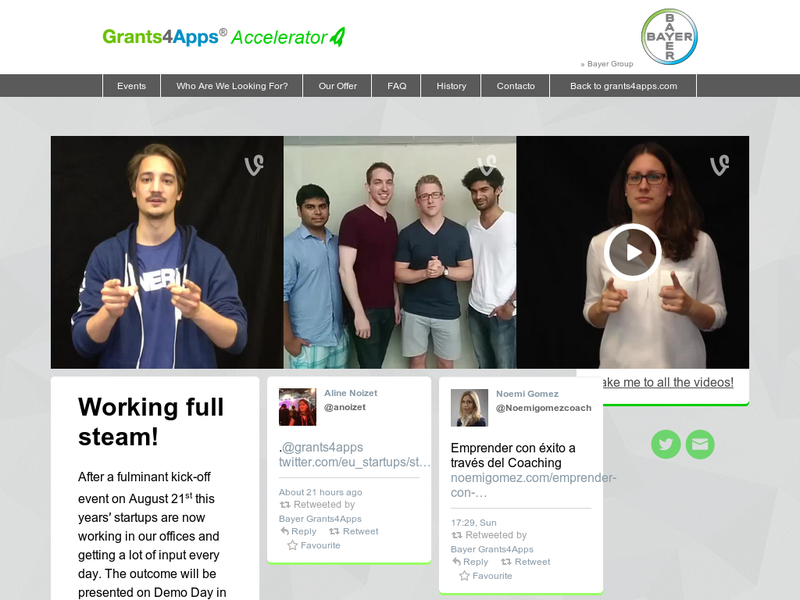 Images from Grants4Apps® Accelerator
