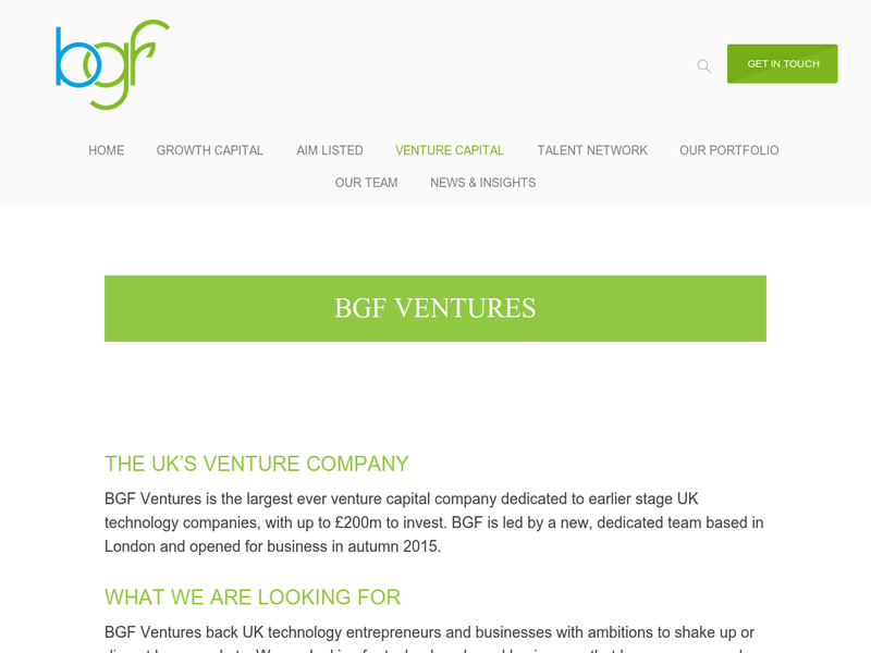 Images from BGF Ventures
