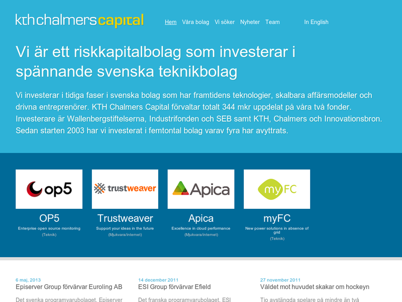 Images from KTH Chalmers Capital
