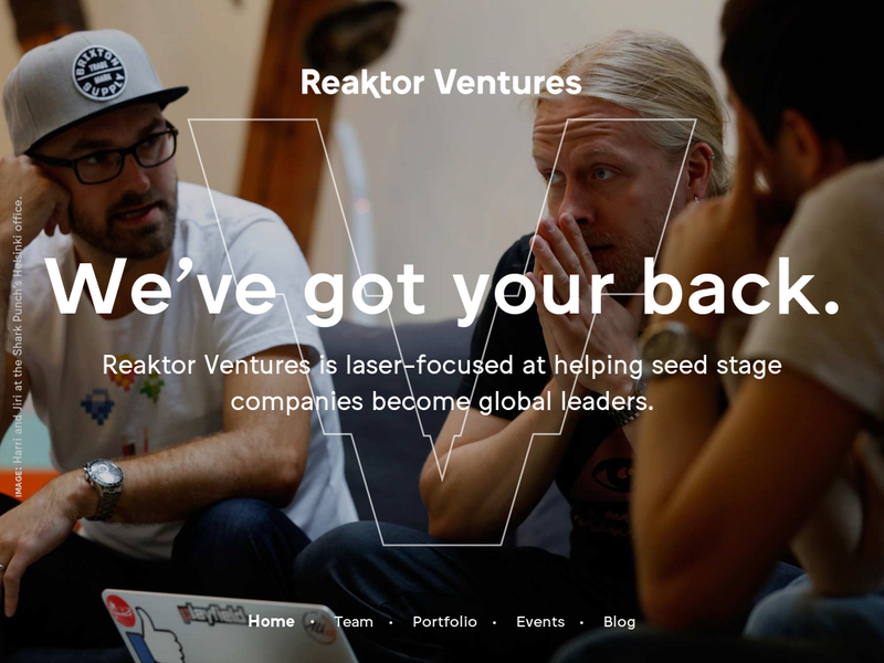 Images from Reaktor Ventures (fka Reaktor Polte)
