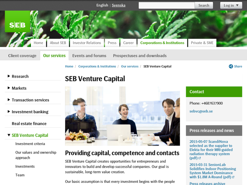 Images from SEB Venture Capital