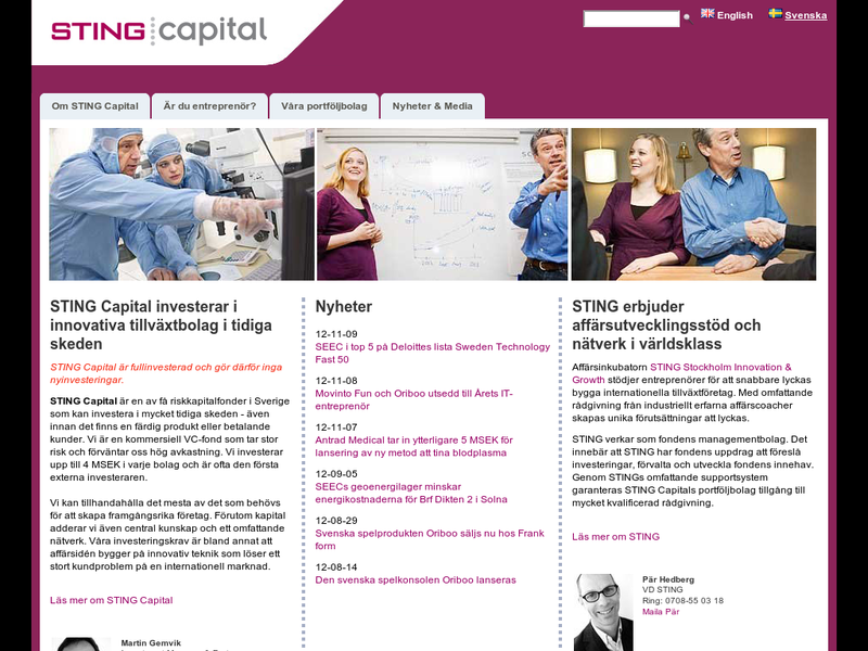 Images from STING Capital