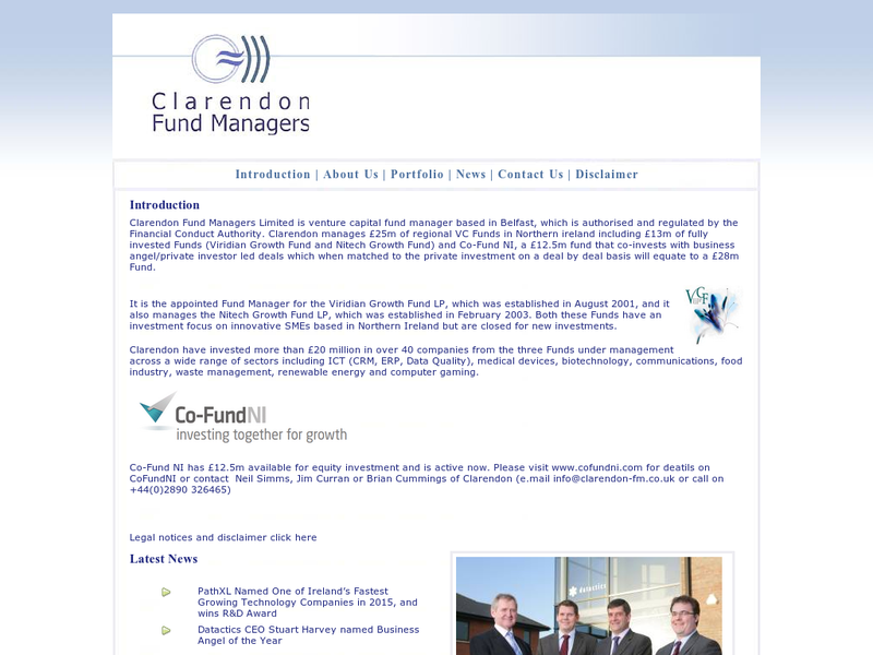 Images from Clarendon Fund Managers