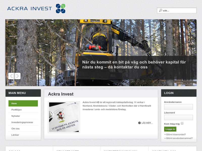 Images from Ackra Invest AB